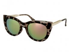 Óculos de Sol Alensa Borboleta Espelhado Havana Rosa
