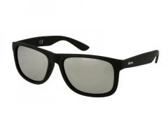 Óculos de Sol Alensa Desporto Espelhado Preto Prata