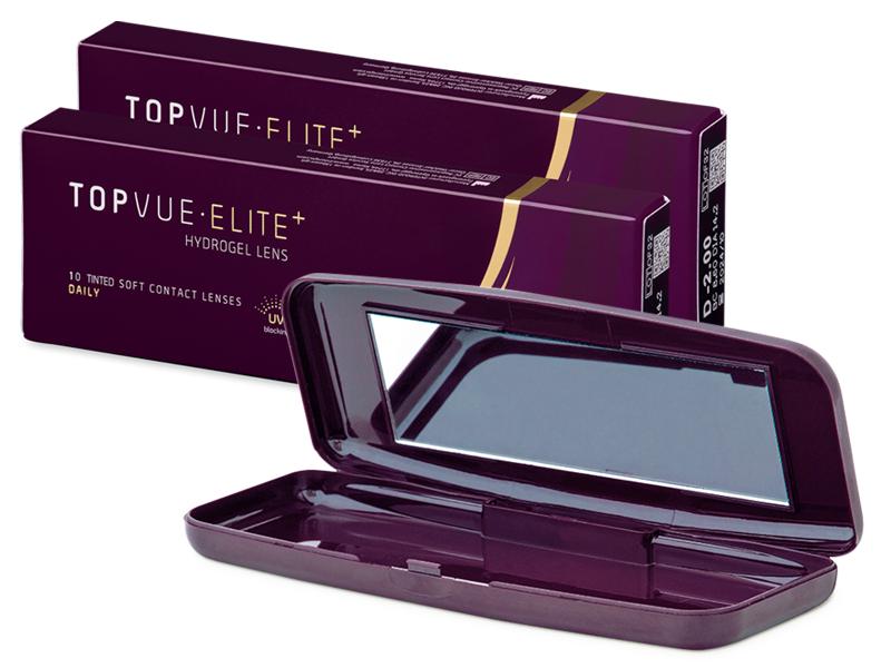 TopVue Elite+ (10 pares) + Estojo com espelho