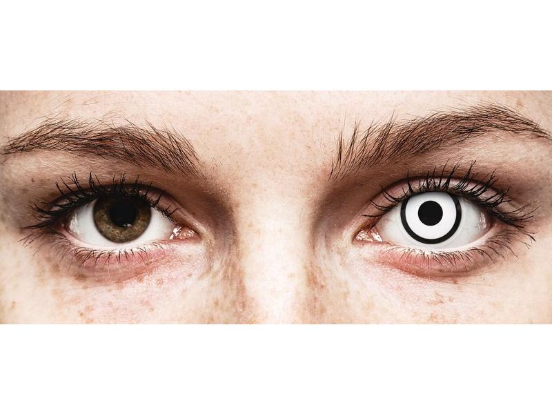Lentes de Contacto Crazy Lens Zumbi Branco White Zoombie com correção - ColourVUE (2 lentes)