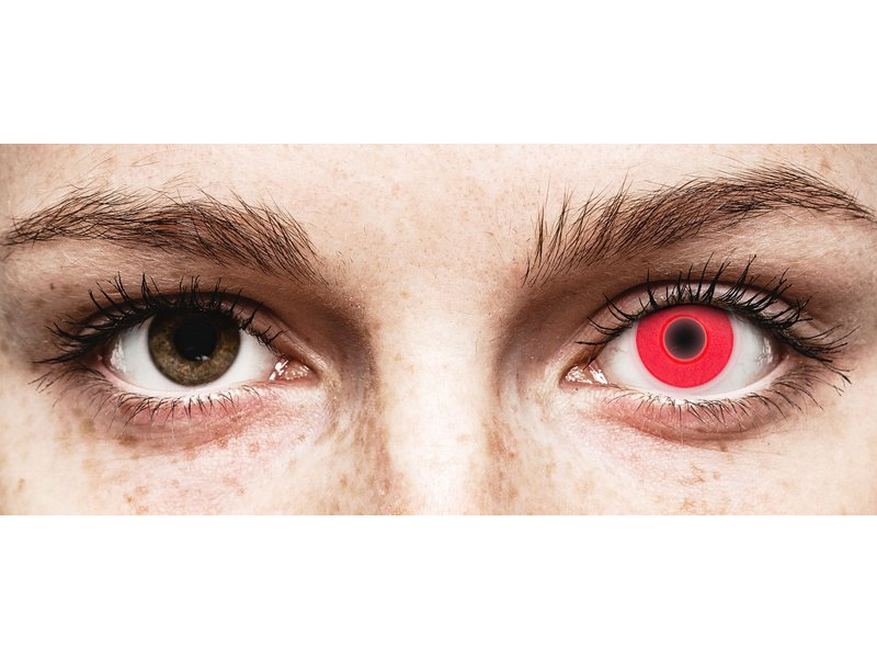 Lentes de Contacto Crazy Glow Vermelha - ColourVUE (2lentes)