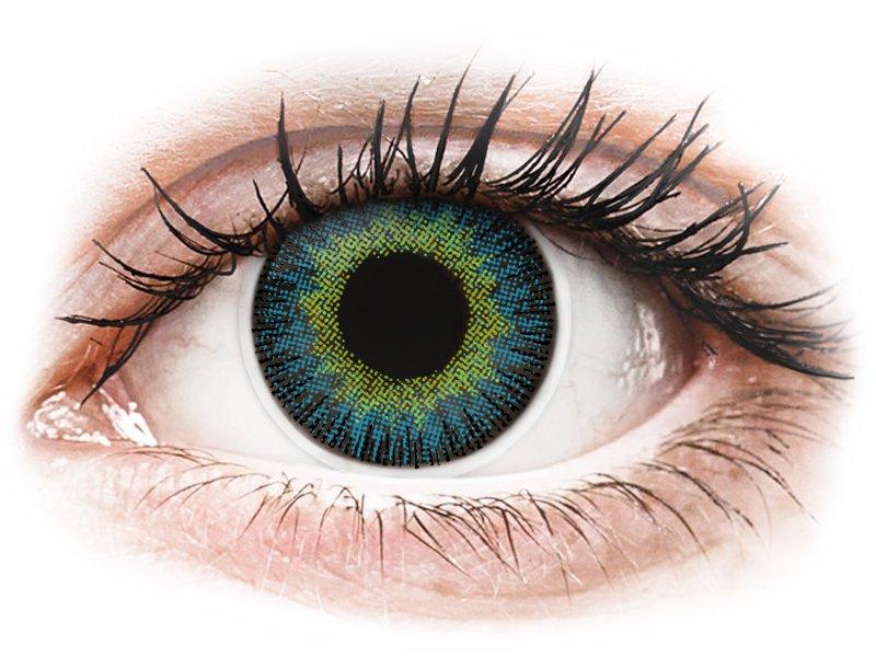 Lentes de Contacto Fusion Amarelo Azulado com correção - ColourVUE (2lentes)