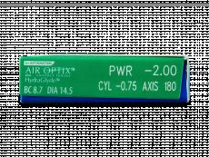 Air Optix plus HydraGlyde for Astigmatism (3 lentes)