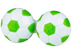 Estojo para lentes de contacto futebol - Verde