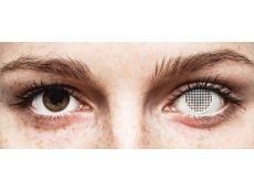 Lentes de Contacto Crazy Lens Tela Branca White Screen - ColourVUE (2 lentes)