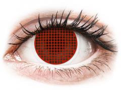 Lentes de Contacto Crazy Lens Tela Vermelha Red Screen - ColourVUE (2 lentes)