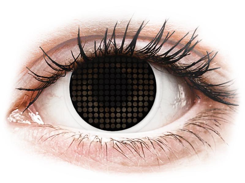 Lentes de Contacto Crazy Lens Tela Preta Black Screen - ColourVUE (2 lentes)