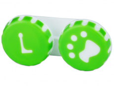 "Estojo para lentes de contacto ""Pata"" Verde"