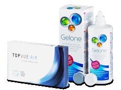 TopVue Air (6 lentes) + SoluçãoGelone 360 ml