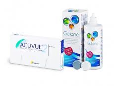 Acuvue 2 (6 lentes) + Solução Gelone 360 ml