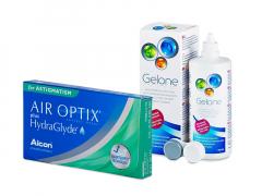 Air Optix plus HydraGlyde for Astigmatism (6 lentes) + Solução Gelone 360 ml