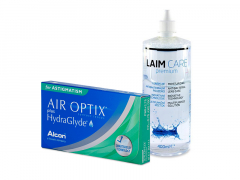 Air Optix plus HydraGlyde for Astigmatism (6 lentes) + Solução Laim-Care 400 ml