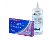 Air Optix plus HydraGlyde Multifocal (3 lentes) + Solução Laim-Care 400 ml
