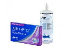 Air Optix plus HydraGlyde Multifocal (6 lentes) + Solução Laim-Care 400 ml