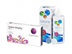 Avaira Vitality Toric (3 lentes) + Solução Gelone 360 ml