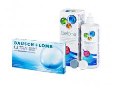 Bausch + Lomb ULTRA (6 lentes) + Solução Gelone 360 ml