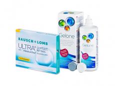 Bausch + Lomb ULTRA for Presbyopia (3 lentes) + Solução Gelone 360 ml