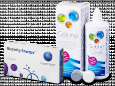 Biofinity Energys (6 lentes) + Solução Gelone 360 ml