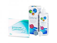 PureVision 2 (3 lentes) + Solução Gelone 360 ml