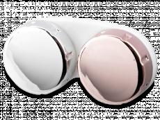 Estojo para lentes de contacto com acabamento espelhado - Rosa/Prata