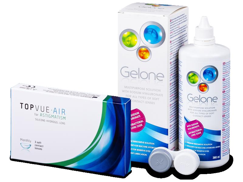 TopVue Air for Astigmatism (3lentes) + Solução Gelone 360 ml