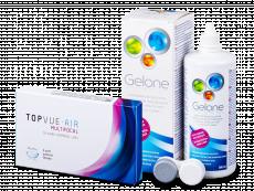 TopVue Air Multifocal (3 lentes) + Solução Gelone 360 ml