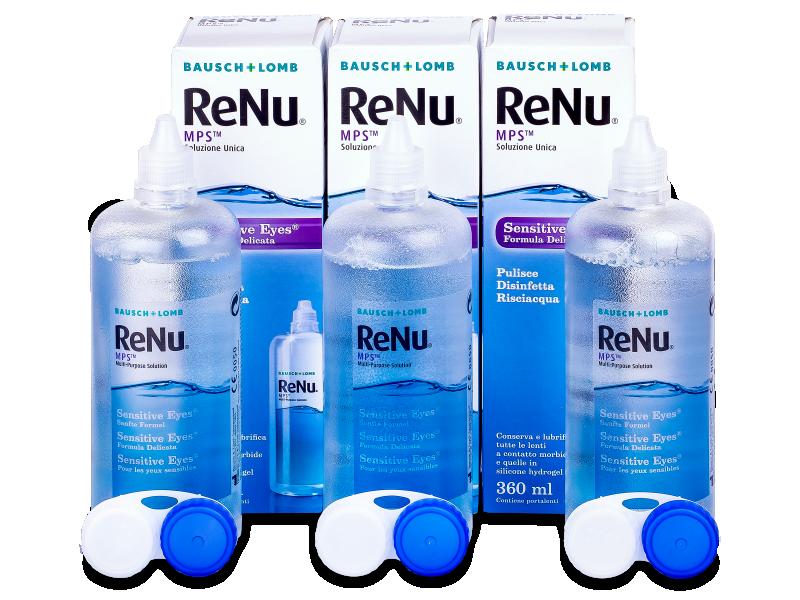 Solução ReNu MPS Sensitive Eyes 3 x 360 ml