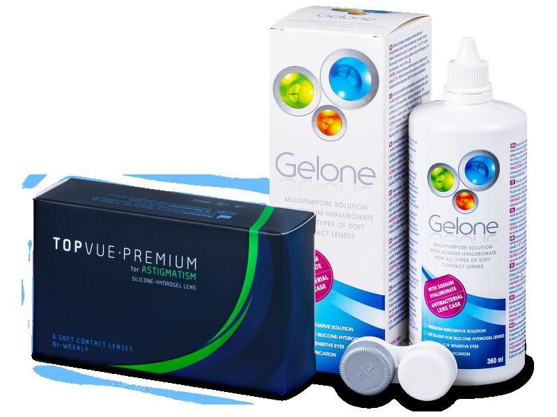 TopVue Premium for Astigmatism (6lentes) + SoluçãoGelone 360 ml