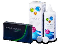 TopVue Premium for Astigmatism (3lentes) + SoluçãoGelone 360 ml