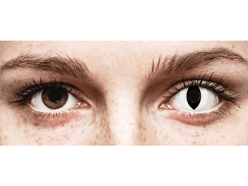 CRAZY LENS - Cat Eye White - Diárias sem correção (2 lentes)