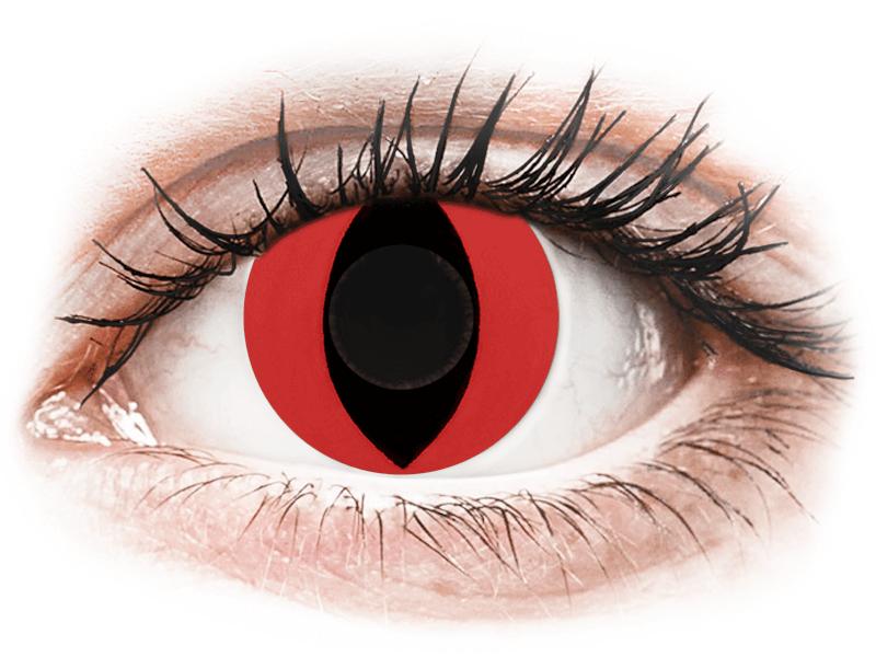 CRAZY LENS - Cat Eye Red - Diárias sem correção (2 lentes)