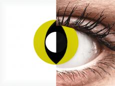 CRAZY LENS - Cat Eye Yellow - Diárias sem correção (2 lentes)
