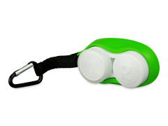 Estojo para lentes com mosquetão - Verde