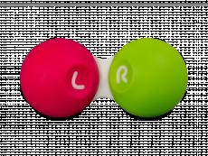 Estojo para lentes de contacto - Rosa & Verde