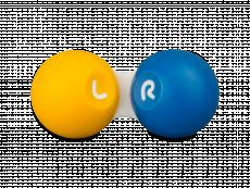 Estojo para lentes de contacto - Amarelo & Azul