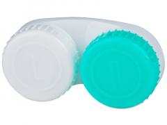 Estojo para lentes de contacto verde e Branco L+R