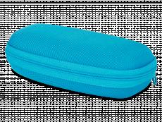 Caixa de óculos zip up para criança - azul