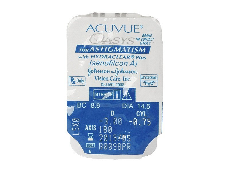 Acuvue Oasys for Astigmatism (6lentes)