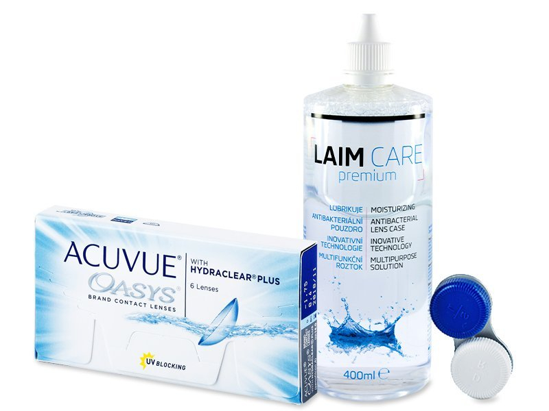 Acuvue Oasys (6lentes) +Solução Laim-Care400ml